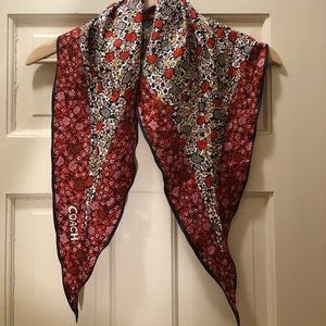 Coach Silk Triangle Scarf